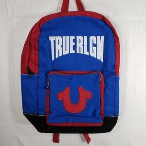 True Religion Bermuda Blue Backpack